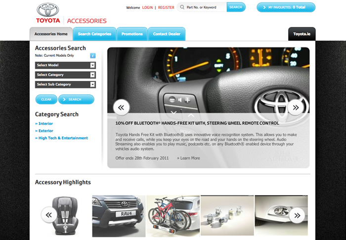 Toyota Accessories Site Launched