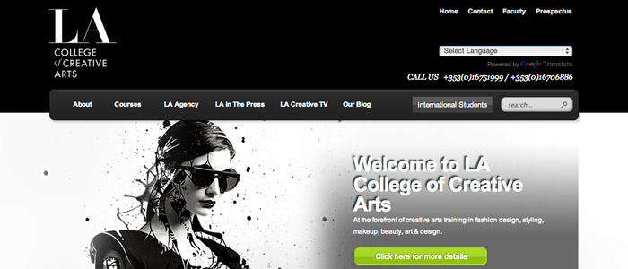 LA College of Creative Arts website launched