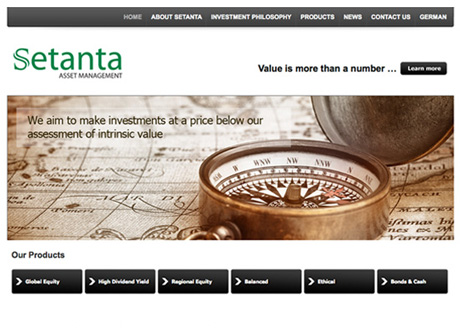Setanta Asset Management Site goes Live