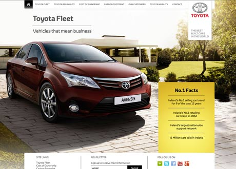 Toyota Fleet website launched