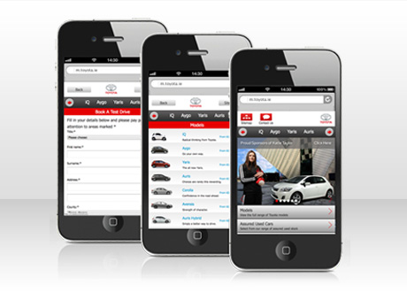 Toyota Mobile Website Now Live