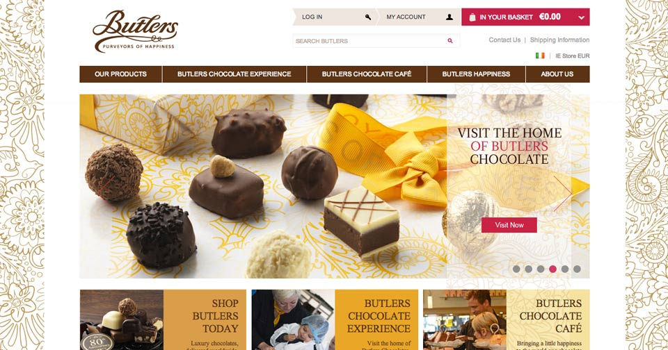 Butlers Chocolates - Website Design, CMS