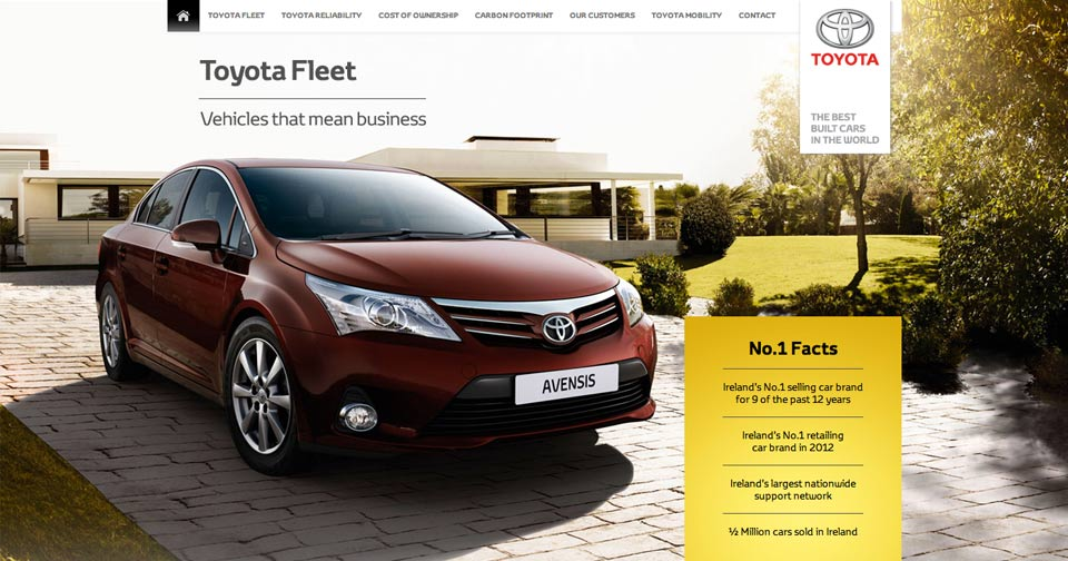 Toyota Fleet - Website Design