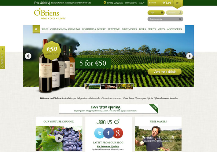 O'Briens Wine Case Study