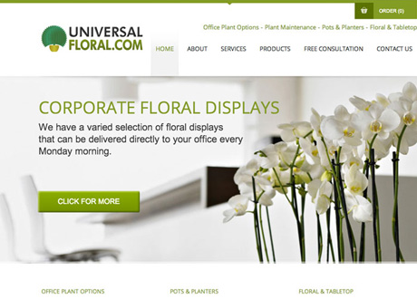 Framework Design launch new site for Universal Floral