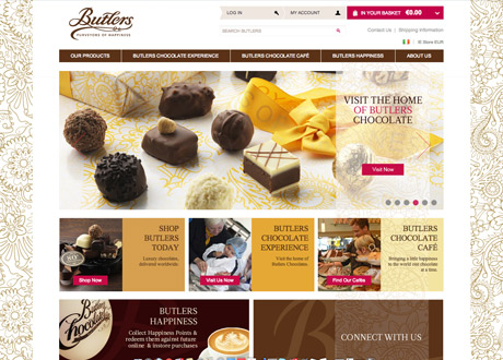 eCommerce website launched for Butlers Chocolates
