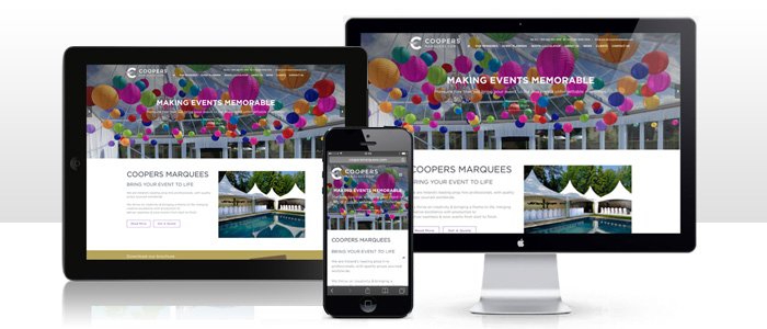 ExpressionEngine Website Launched for Cooper Marquees