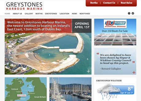 Responsive website completed for Greystones Harbour Marina