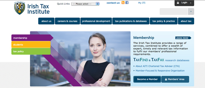 Clean, contemporary website launched for the Irish Tax Institute