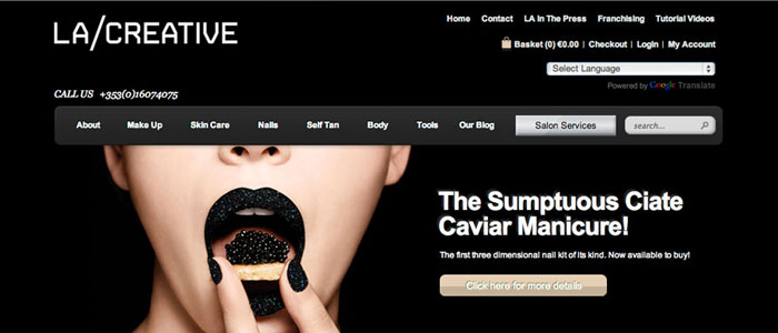 eCommerce Website Launched for LA Creative