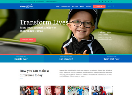 New Website Launched for Make-A-Wish Ireland