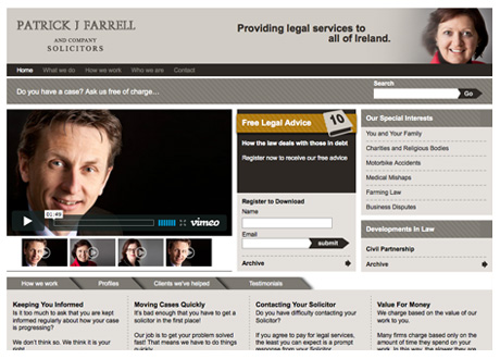 New Site Launched for Patrick J Farrell & Co. Solicitors