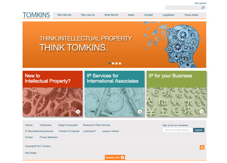 New Site Launched for Tomkins